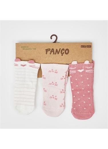 Panço PanÇo 612 Ay 3'lü Soft Kız Bebek Çorap Renksiz